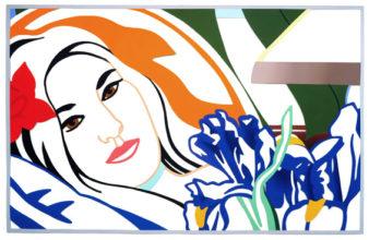 Bedroom Brunette with Irises