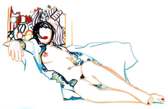 Monica Nude with Matisse (Var #1)