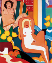Sunset Nude with Matisse Odalisque