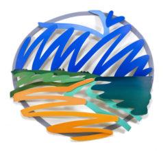 Seascape (3-D Tondo)
