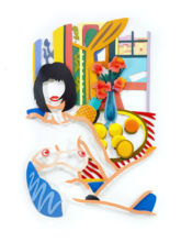 Monica and Matisse Interior with Phonograph (3-D)