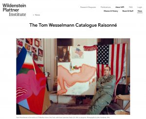 The Tom Wesselmann Catalogue Raisonné